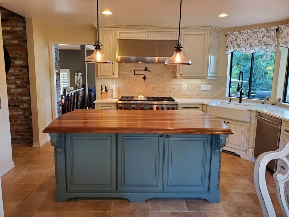 CNC Router Made Kitchen Island
