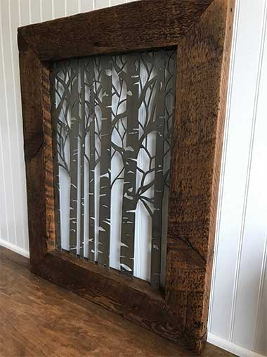 Steel Trees in a Wood Frame