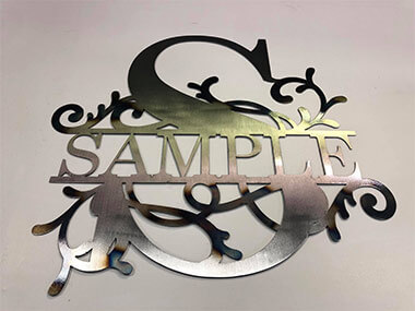 Metal CNC Machining - Sample Sign