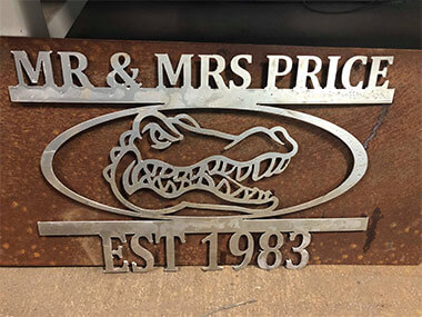 Metal CNC Sign - Mr & Mrs Price