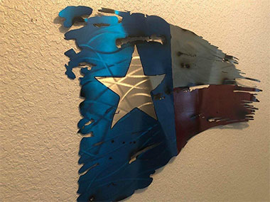 Texas Flag Metal CNC Fabrication