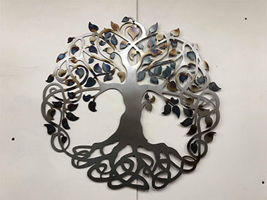 Tree of Life Steel CNC Fabricated Sign