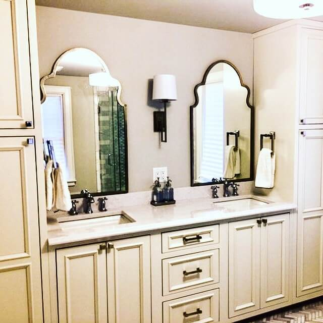 Bathroom Cabinets Two Sinks