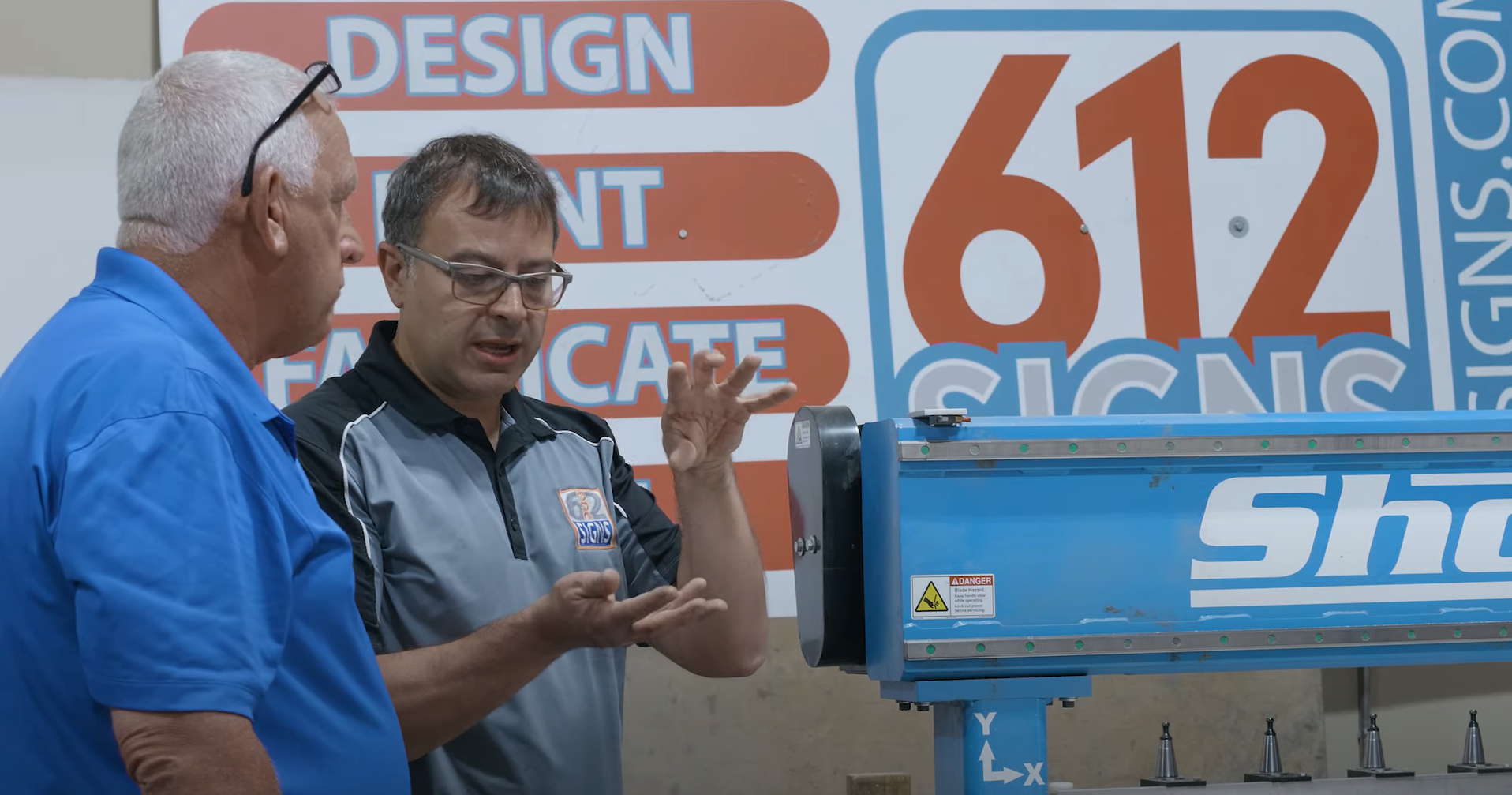 william salvador talking to router bob at 612 signs