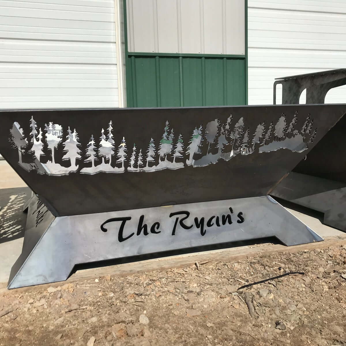 custom fire pit from ricki and sons