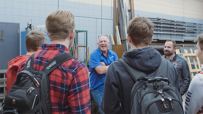Router Bob Speaks at Lakeville North High School