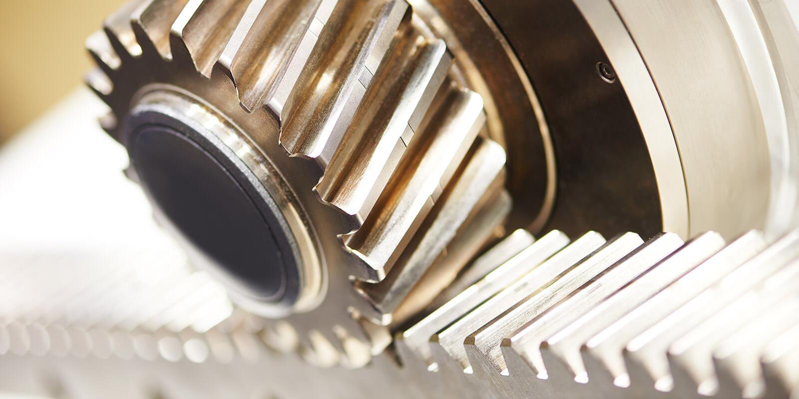 Metal cog tooth wheel and rack