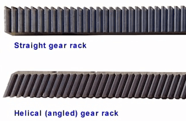 straight gear rack and helical gear rack